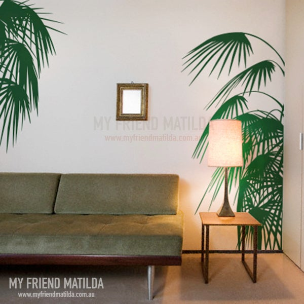 Palm Leaves Wall Decal Tropical Accent Removable Wall