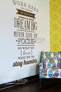 Work Hard, Dream Big, Focus Inspirational Words Wall Decal Sticker