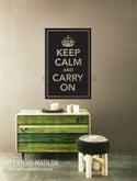 Vinyl Wall Sticker Decal Art - Keep Calm and Carry On