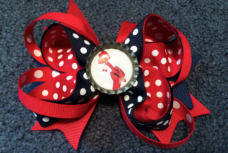 Image of Choplanta Chop Arm Logo (Version 2) Hair Bow