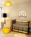 Vinyl Wall Sticker Decal Art - Baby or Childs Name Personalised Monogram