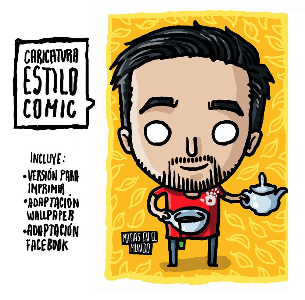 Image of Caricatura estilo Comic / comic style cartoon