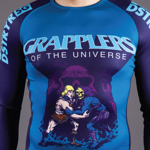 Image of GRAPPLERS OF THE UNIVERSE RASH GUARD