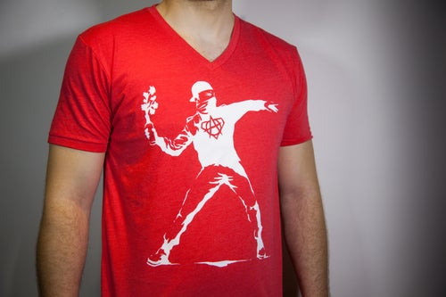 Image of 'Make Peace' Bright Red/White