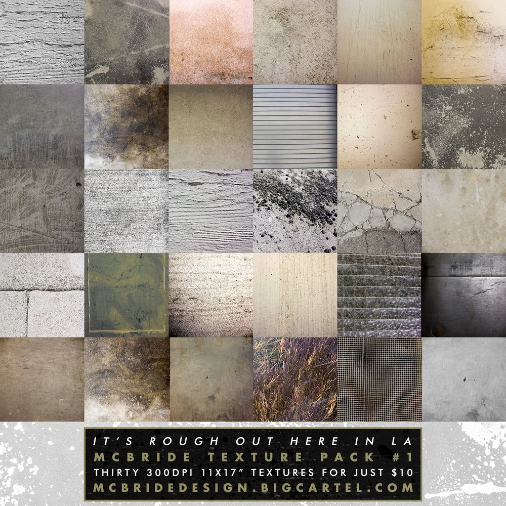 Image of McBride Texture Pack 1 (30 300dpi Textures)