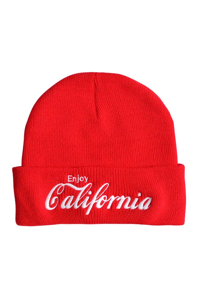Image of Enjoy California Red Beanie