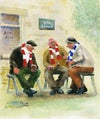 'In The Beer Garden' - *PRINT*