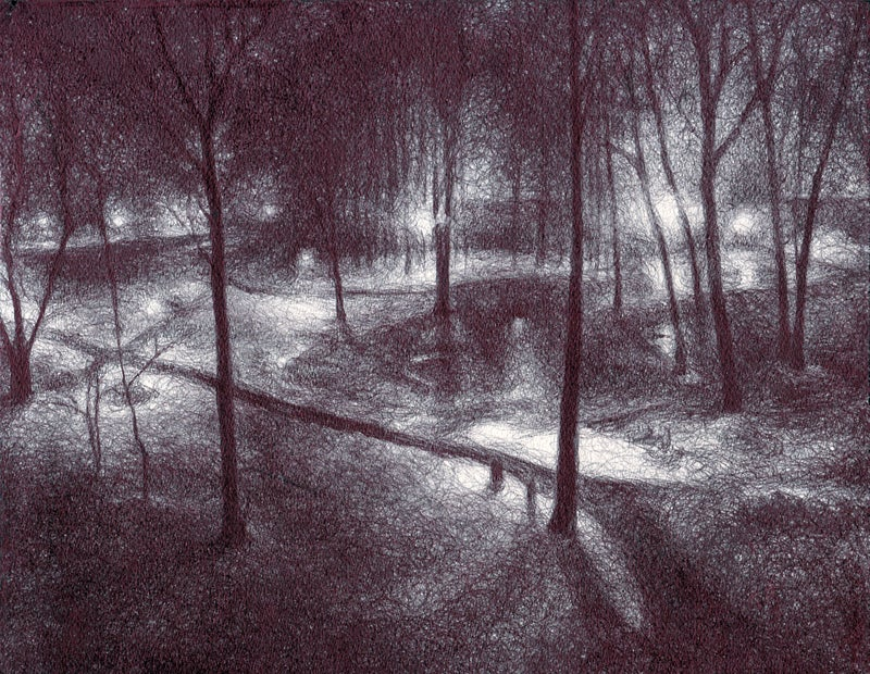 Image of Lighted Path