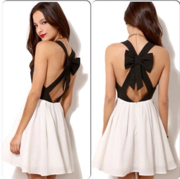 Image of CUTE SEXY BOW FRESH DRESS