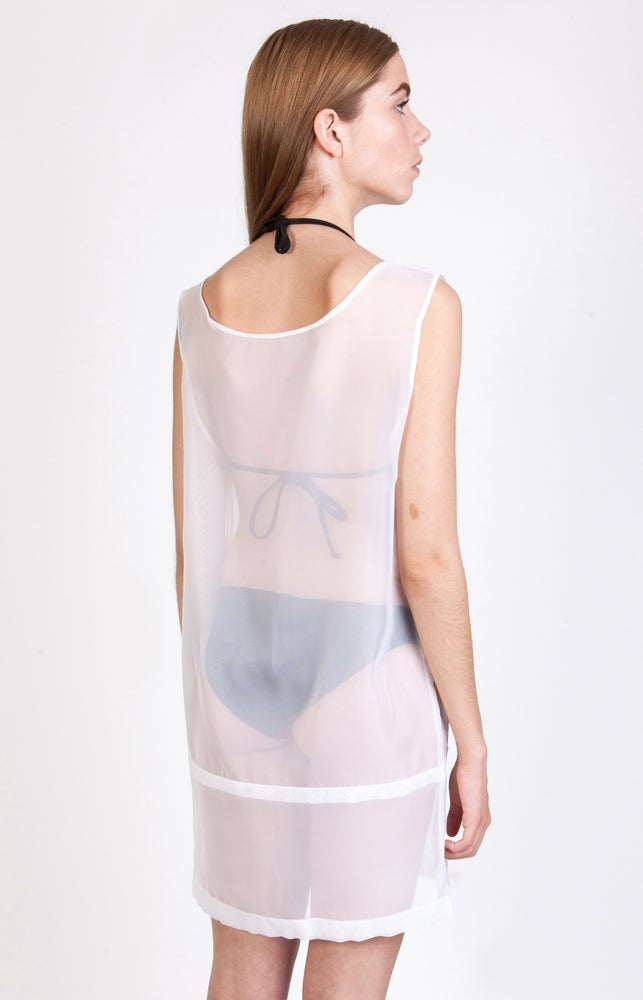 Image of SS Chiffon Extended Vest