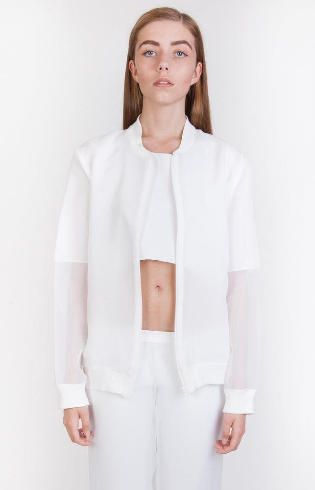 Image of SS Chiffon Lined Bomber Jacket - W