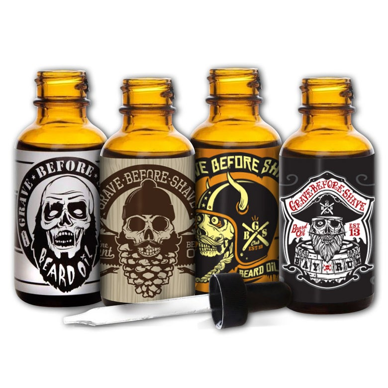 Image of GRAVE BEFORE SHAVE Beard oil 4 Pack