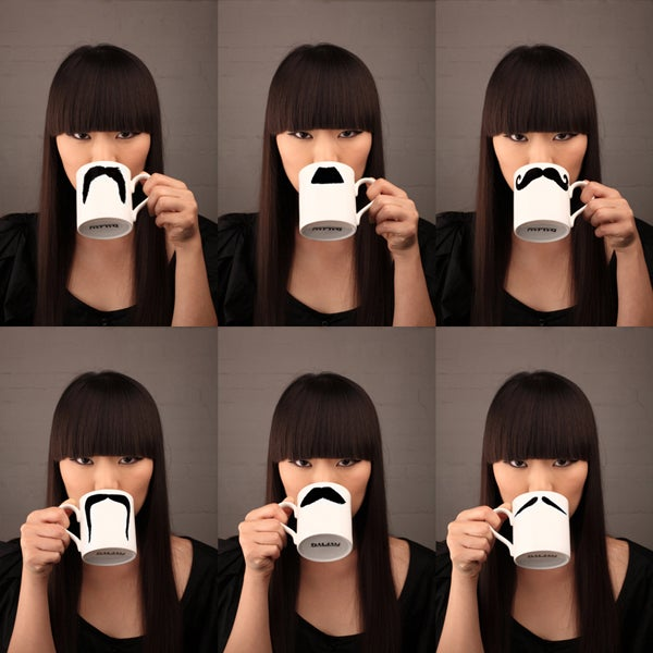 Image of The Fu Manchu Moustache Mug