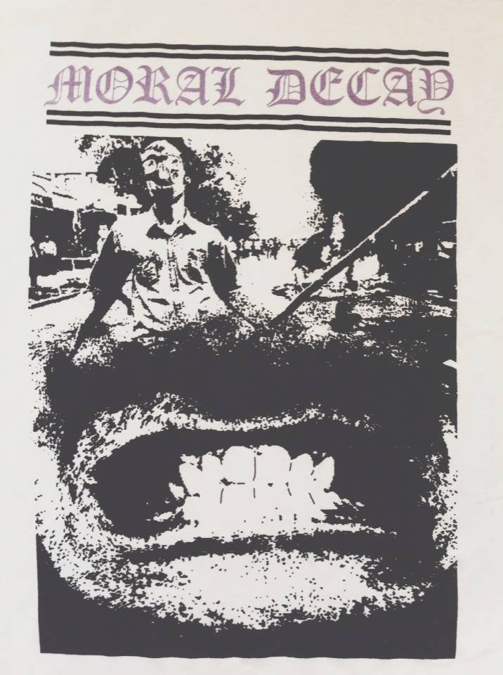 Image of Moral Decay Hand printed 2 colour.