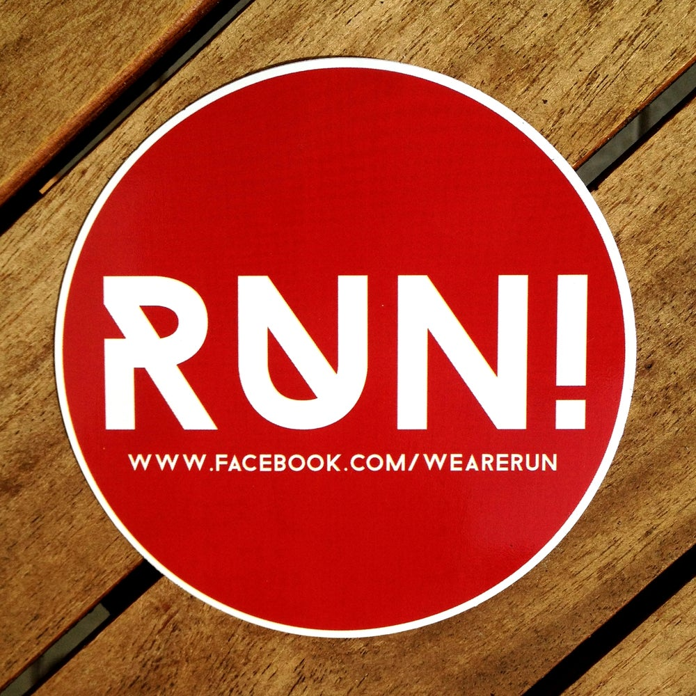 Image of RUN! Sticker (red)