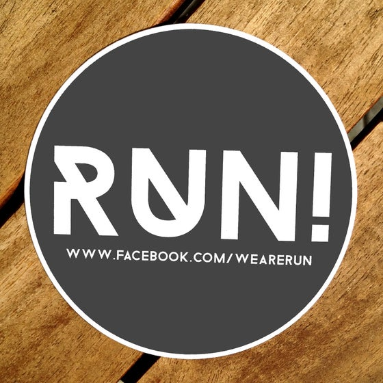 Image of RUN! Sticker (grey)