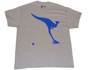 Image of Paperstack Apparel 'Kangaroo Kicks' Tshirt (True Blue/Grey Heather)