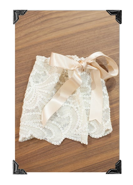Image of Vintage Lacey Skirt with matching tie-back