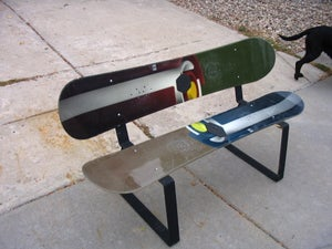 """Image of The Steel Edge """"Snowboard and Ski Bench Design"""""""
