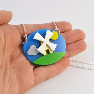 Image of Windmill Necklace and Windmill Brooch