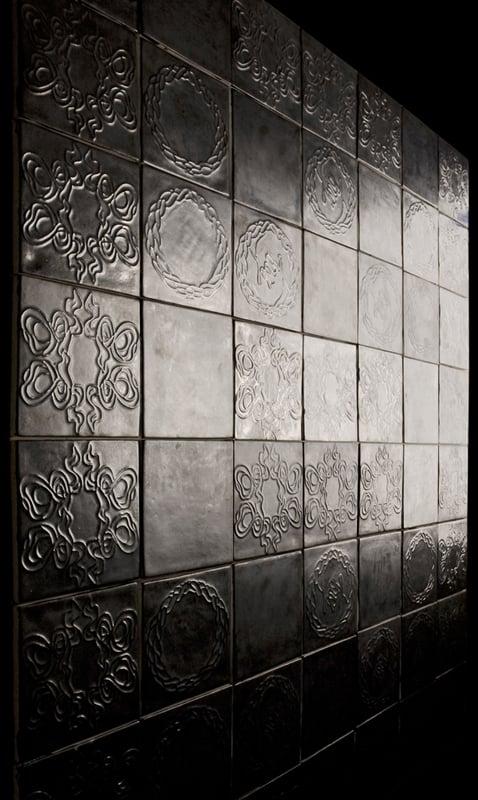 Image of Braid tile dark