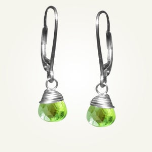 Image of Candy Drop Earrings with Peridot, Sterling Silver