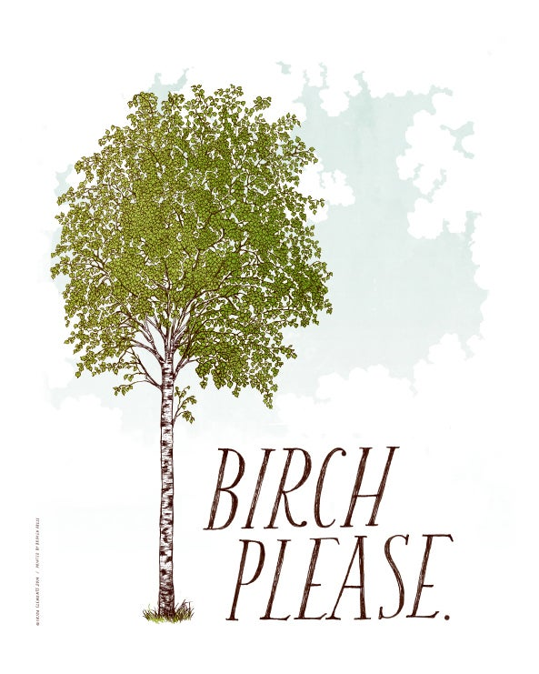 birch please art print frida clements