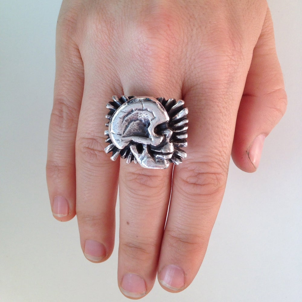 Image of The Star Burst Skull Ring