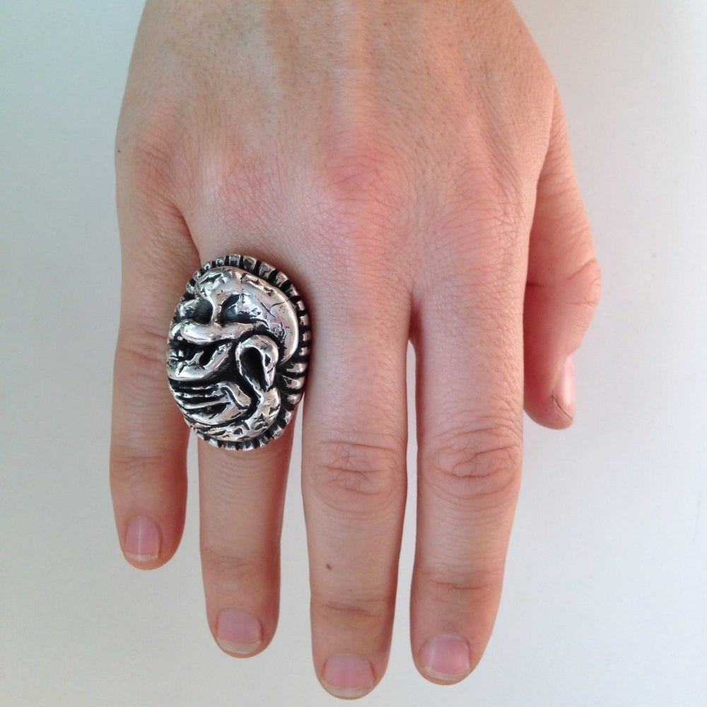 Image of The Poet And Swan skull ring