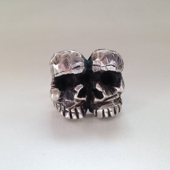 Image of Together Forever Skull Ring