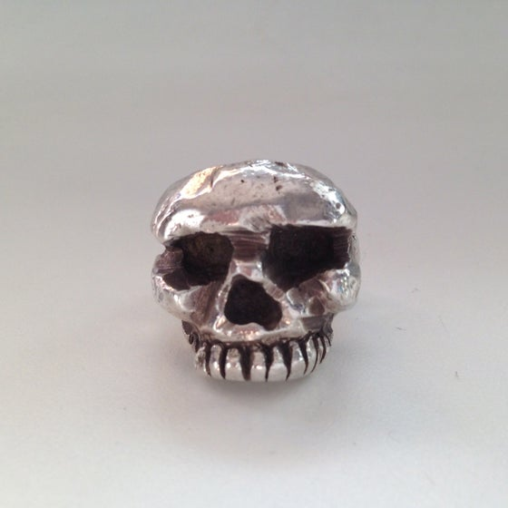 Image of Love me I'm in your head Skull Ring