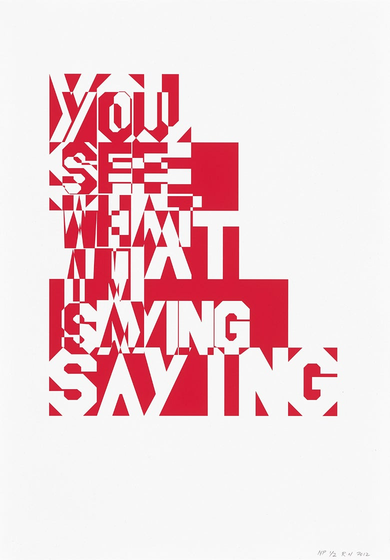 Image of <i>You See What I'm Saying (twice over print version)</i> 2012