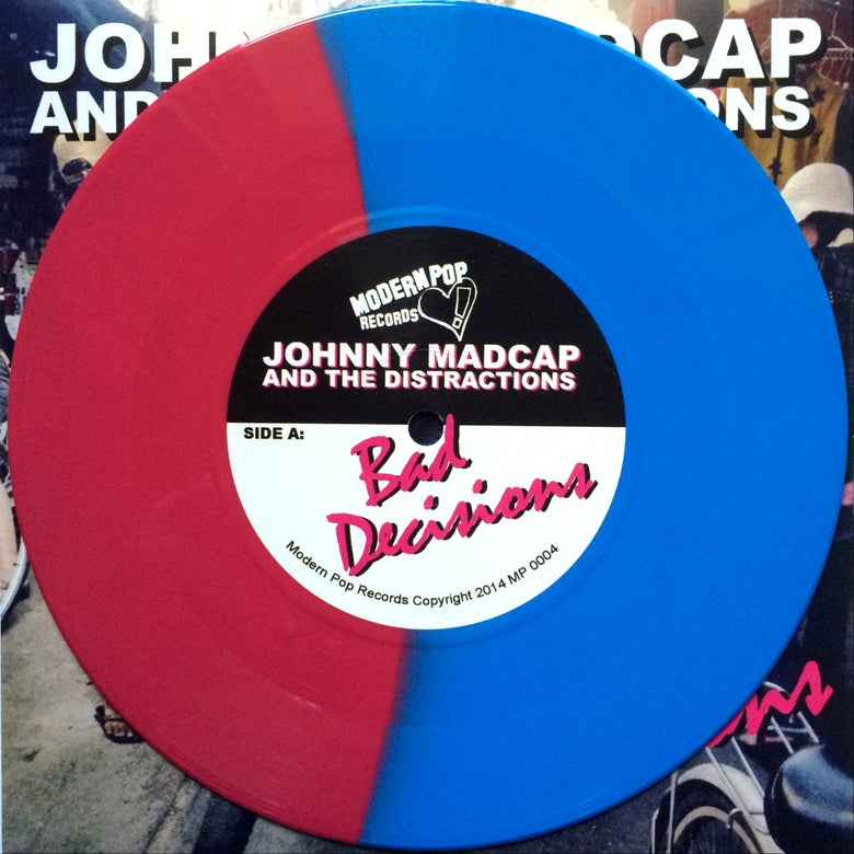 "Image of Bad Decisions 7"" - Pink and Blue Vinyl"