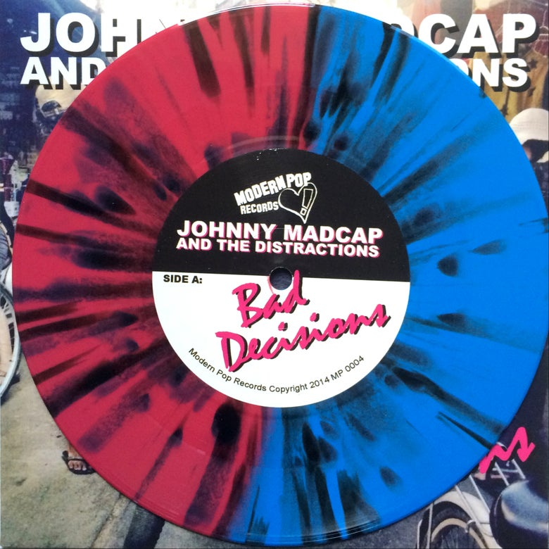 "Image of Bad Decisions 7"" - Pink and Blue Splatter Vinyl"