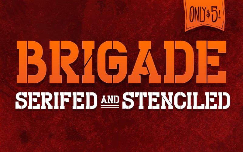 "Image of ""Brigade"" Font"