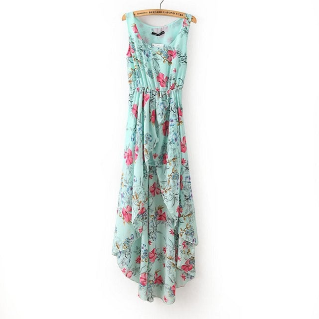 Image of Cute floral irregualr dress