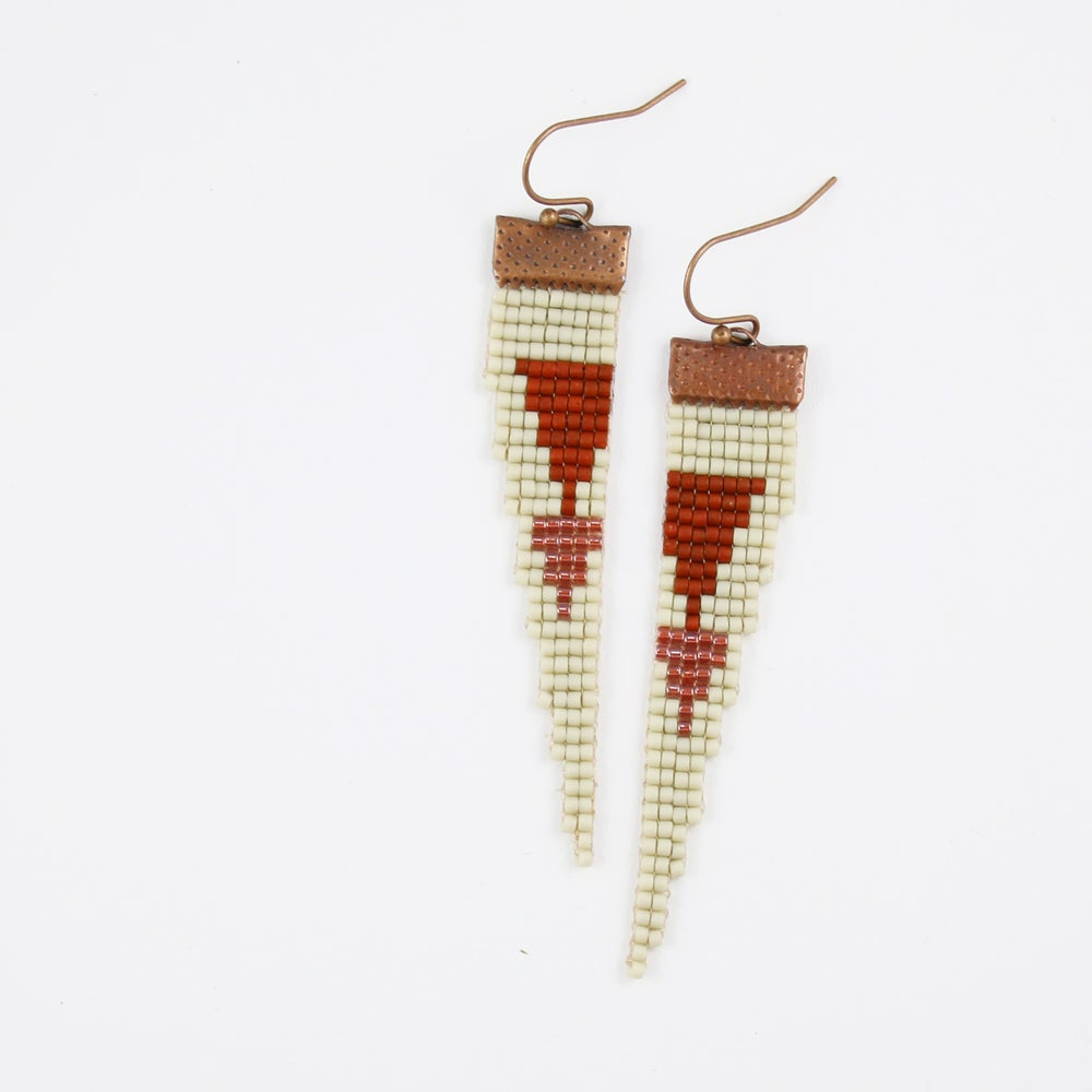 Image of Ancient Ruins // Loom-beaded Earrings