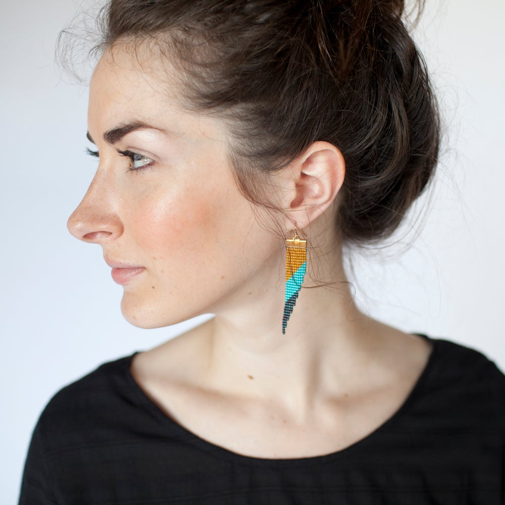 Image of Bamboo // Loom-beaded Earrings