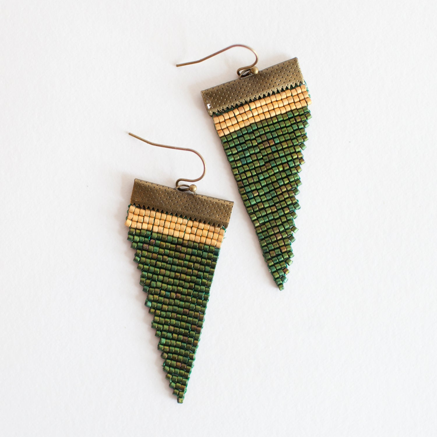Image of Wood Fern // Loom-beaded Earrings