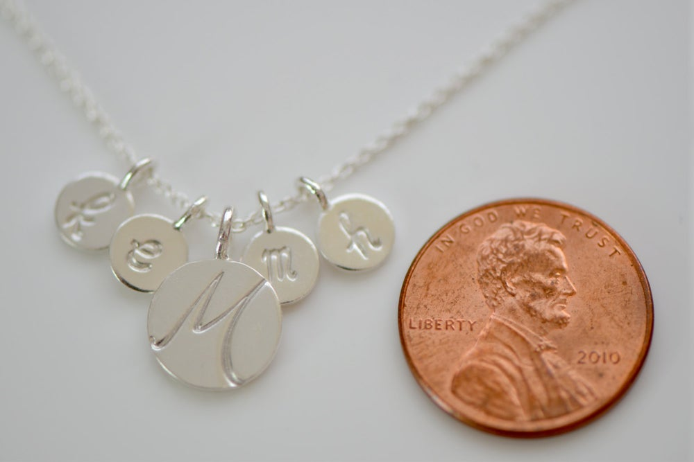 Image of Sterling Silver Initial Necklace - Childrens initials