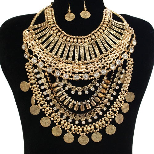 Image of Bohemian Style Necklace Set
