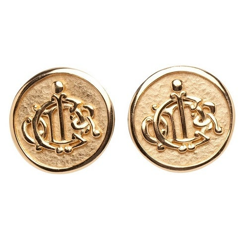 Image of SOLD OUT Christian Dior Authentic Vintage JUMBO Logo Earrings