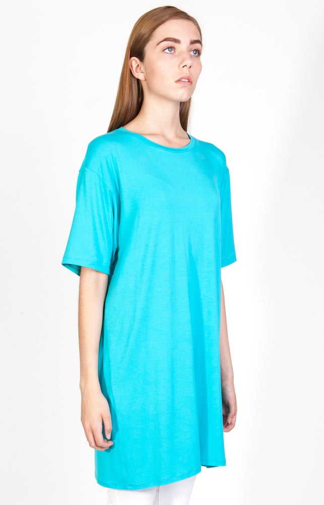 Image of SS Cyan Long T-Shirt - W