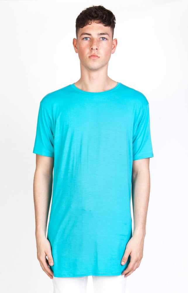 Image of SS Cyan Long T-Shirt - M