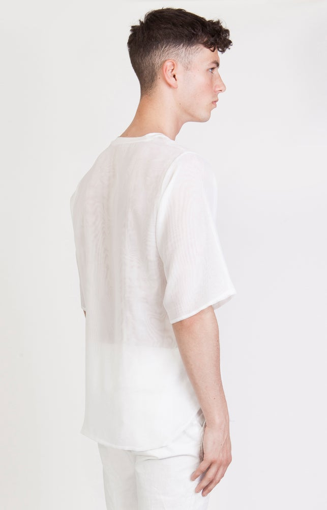 Image of SS Wavy Transparent T-Shirt - M