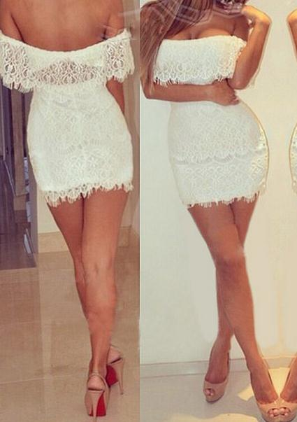 Image of One word sexy fresh lace dress