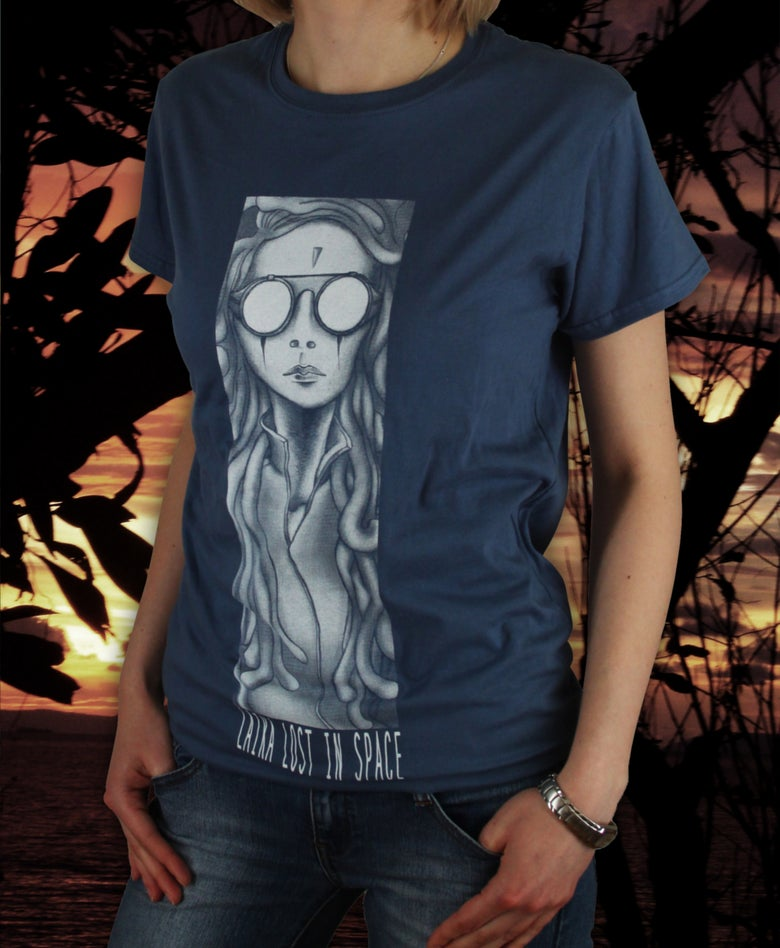 Image of (SOLD OUT) Laika Lost in Space - Frozen Doves of Peace (Shirt Blue)