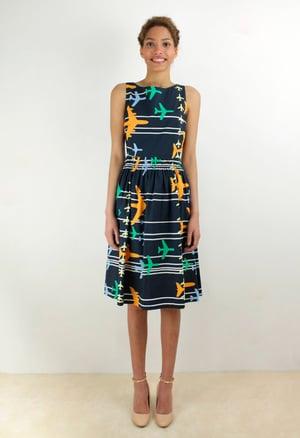 Image of PLANE PRINT DRESS