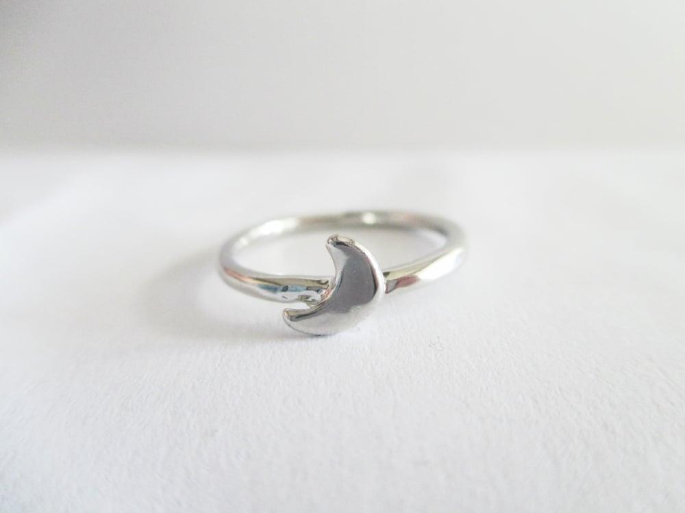 Image of Half Crescent Midi Ring