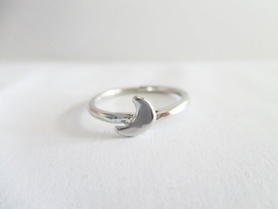 Image of Half Crescent Midi Ring